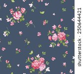 flower background   seamless... | Shutterstock .eps vector #250644421