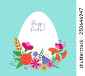 easter holiday background with... | Shutterstock .eps vector #250646947
