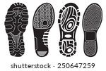 vector set of shoe tracks | Shutterstock .eps vector #250647259