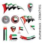uae vector flag  made in united ... | Shutterstock .eps vector #250647451