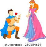 charming prince and beautiful... | Shutterstock .eps vector #250654699