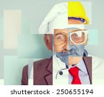 conceptual collage image of one ... | Shutterstock . vector #250655194