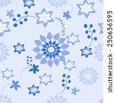 plants seamless pattern... | Shutterstock .eps vector #250656595