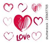 hearts   Shutterstock . vector #250657705