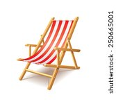 Deck Chair Isolated On White...