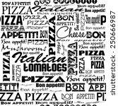 pizza seamless pattern.  ... | Shutterstock .eps vector #250666987