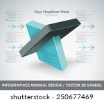 abstract  3d vector symbol... | Shutterstock .eps vector #250677469
