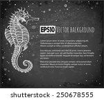background with seahorse and... | Shutterstock .eps vector #250678555