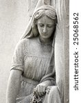 Cemetery Statue Of Mary...