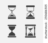 hourglass icon set  four pieces ... | Shutterstock .eps vector #250686505
