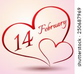 happy valentines day and... | Shutterstock .eps vector #250687969