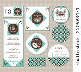 set of vintage wedding cards... | Shutterstock .eps vector #250693471