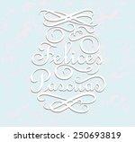 felices pascuas is happy easter ... | Shutterstock .eps vector #250693819