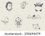 funny characters vector... | Shutterstock .eps vector #250694479