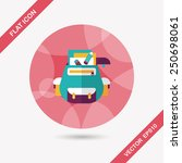 backpack flat icon with long... | Shutterstock .eps vector #250698061