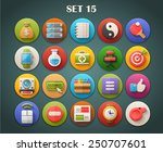 round bright icons with long... | Shutterstock .eps vector #250707601