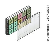 server virtualization concept.... | Shutterstock .eps vector #250710334