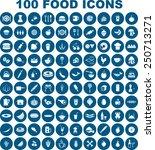 vector food icon set   Shutterstock .eps vector #250713271