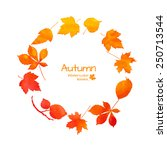 Orange Watercolor Autumn Leaves ...