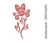 valentines day card illustration | Shutterstock . vector #250714291