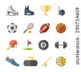 sport flat icons | Shutterstock .eps vector #250714609