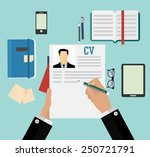writing a business cv resume... | Shutterstock .eps vector #250721791