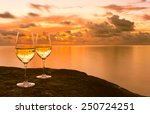 Wine Glasses On The Beach