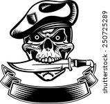skull dagger knife  | Shutterstock .eps vector #250725289