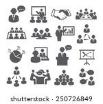 conference icons | Shutterstock .eps vector #250726849