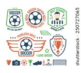 set soccer emblems and icons.... | Shutterstock .eps vector #250727065