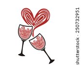 valentines day card illustration | Shutterstock . vector #250732951