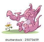 dragon in love | Shutterstock . vector #25073659
