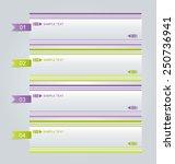 business infographics tabs... | Shutterstock .eps vector #250736941