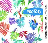 vector floral pattern on a... | Shutterstock .eps vector #250740421