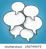 paper speech bubble background  | Shutterstock . vector #250749475