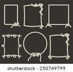 decorative rope frames on black ... | Shutterstock .eps vector #250749799
