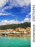 morning view of parga  greece | Shutterstock . vector #250751941