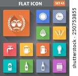 vector application beer icons... | Shutterstock .eps vector #250753855