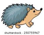 hedgehog isolated on white.... | Shutterstock .eps vector #250755967