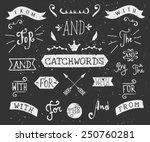a set of chalkboard style... | Shutterstock .eps vector #250760281