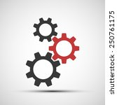 vector icons of mechanical gears | Shutterstock .eps vector #250761175