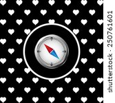compass icon with red and blue...   Shutterstock .eps vector #250761601