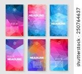 templates. design set of web ... | Shutterstock .eps vector #250764637