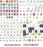 logo mega collection  abstract... | Shutterstock .eps vector #250768045