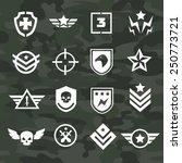 military symbol icons and logos ... | Shutterstock .eps vector #250773721