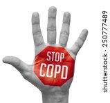 stop copd   red sign painted  ... | Shutterstock . vector #250777489