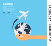 world travel aircraft jet...   Shutterstock .eps vector #250785769