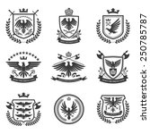 eagle heraldry coat of arms... | Shutterstock .eps vector #250785787