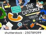 the customer service target... | Shutterstock . vector #250789399