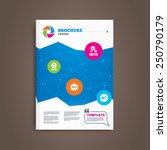 brochure or flyer design. quiz...   Shutterstock .eps vector #250790179